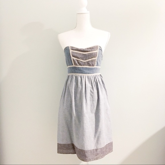 Francesca's Collections Dresses & Skirts - Francesca's Emmelee Chambray Sweetheart Dress